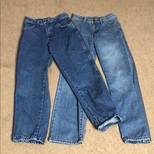 2-piece RUSTLER & CRAZY 8 Jean Bundle, both sz 12